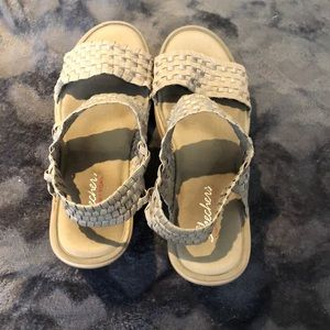 Strappy Skechers sandals size 9
